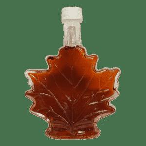 hillegas sugar camp glass maple leaf syrup
