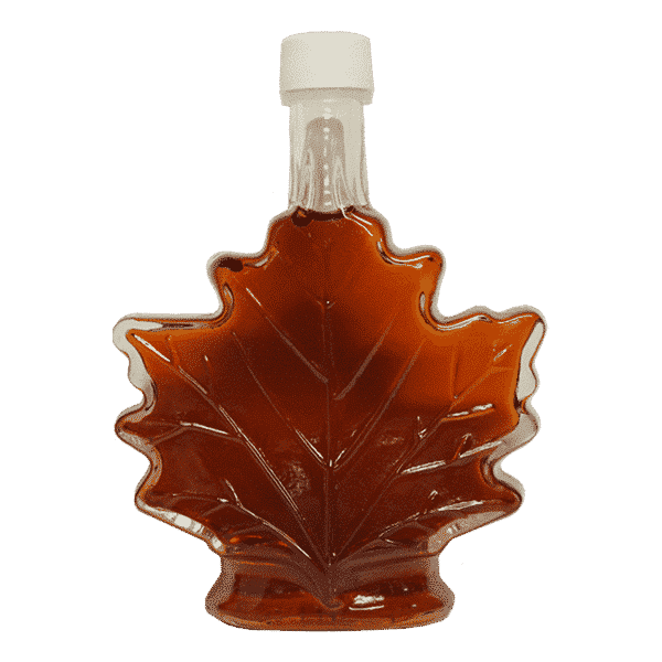 hillegas sugar camp glass maple leaf syrup