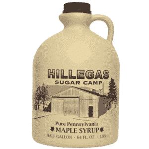 hillegas sugar camp half gallon maple syrup
