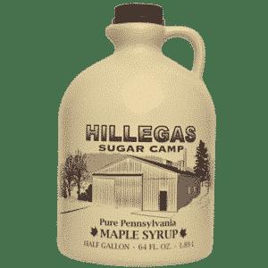 hillegas sugar camp half gallon maple syrup