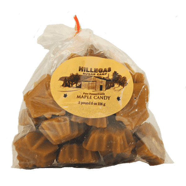 hillegas sugar camp maple candy half pound