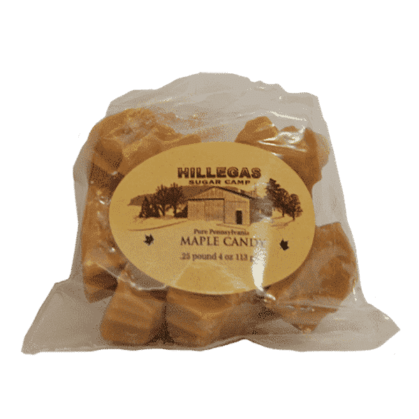 hillegas sugar camp maple candy qtr pound