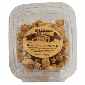 hillegas sugar camp maple coated peanuts half pound