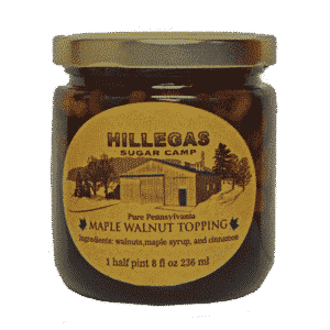 hillegas sugar camp maple walnut topping halfpint