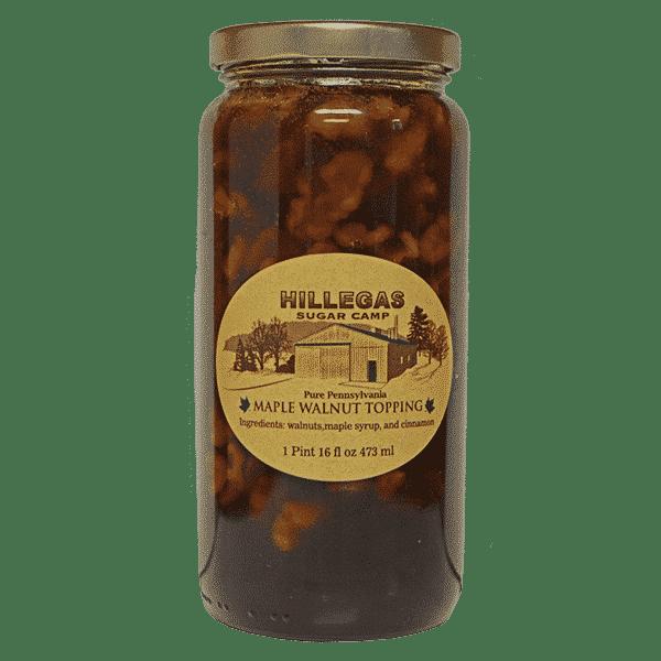 hillegas sugar camp maple walnut topping pint