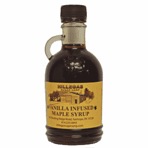 hillegas sugar camp vanilla infused maple syrup