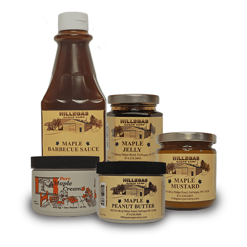 variety of sauces and creams